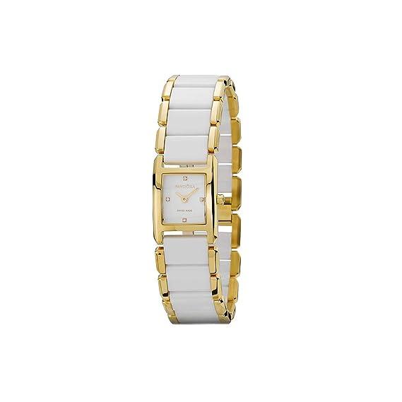 Pandora 812022WH - Reloj analógico de mujer de cuarzo con correa de acero inoxidable multicolor: Amazon.es: Relojes