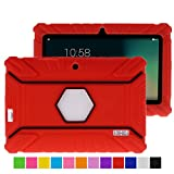 7 inch tablet case chromo inc - Turpro Kids' Shockproof Silicone Case for Chromo Inc 7 inch, Alldaymall A88X, Dragon Touch Y88X Plus/Y88X, VURU A33, NPOLE 7 Inch Tablet (Red)