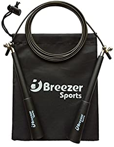 Speed-Rope Pro Springseil von Breezer-Sports - PREMIUM High Speed Jump-Rope...