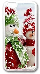 One pair of snowman TPU Transparent Iphone 6 Plus Cases