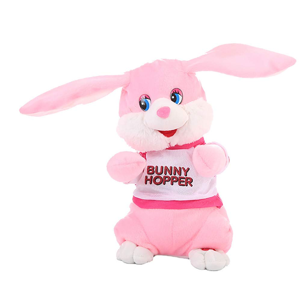 2e6ed7ebd415 Nivalkid Lovely Soft Cute Electric Dancing Rabbit Bunny Soft Plush Toys  Stuffed Animal Kids Toy Home Party Wedding Kid Gift Children Cartoon Dolls  Creative ...