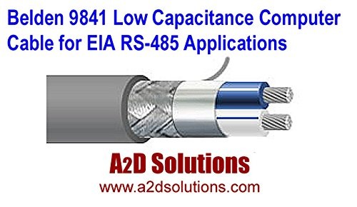 Belden 9841 Low Capacitance Computer Cable for EIA RS-485 Applications 1,000 ()