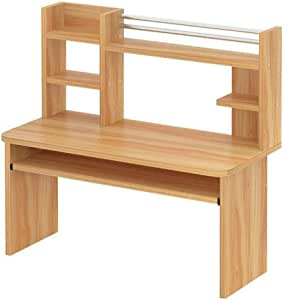 YNN Table Cama Escritorio para computadora con estantería de ...