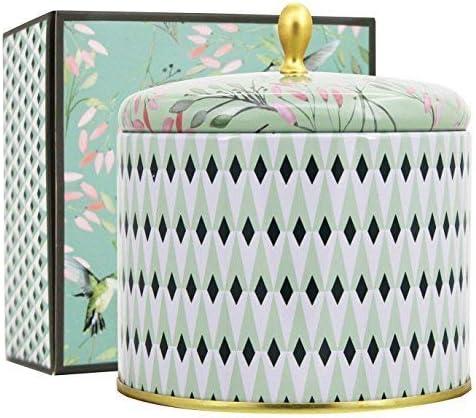 Vela aromática Decorativa Grande 400 g 100% Cera de Soja Vela té ...