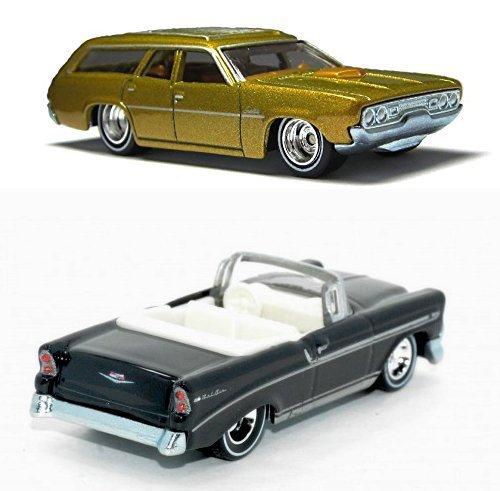 Brady Bunch 2 Car Set Fun Family Station Wagon - Hot Wheels Matchbox Chevy Convertible Retro Entertainment Plymouth ()
