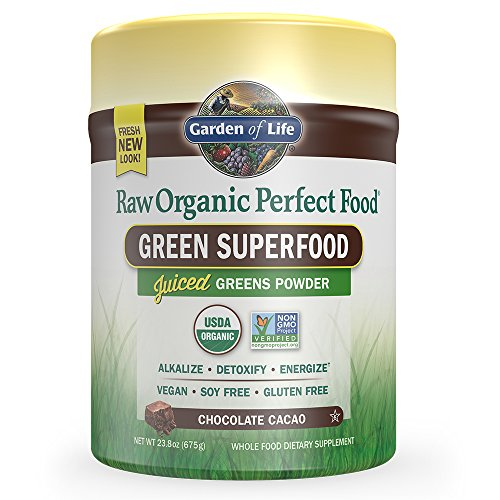 Digestive Greens (Garden of Life Vegan Green Superfood Powder - Raw Organic Perfect Whole Food Dietary Supplement, Chocolate, 23.8oz (1 lb 8 oz / 675g) Powder)