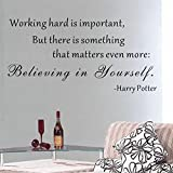 Pop Decors WL-0097-Va Inspirational Quote Wall Decal, Believing in Yourself