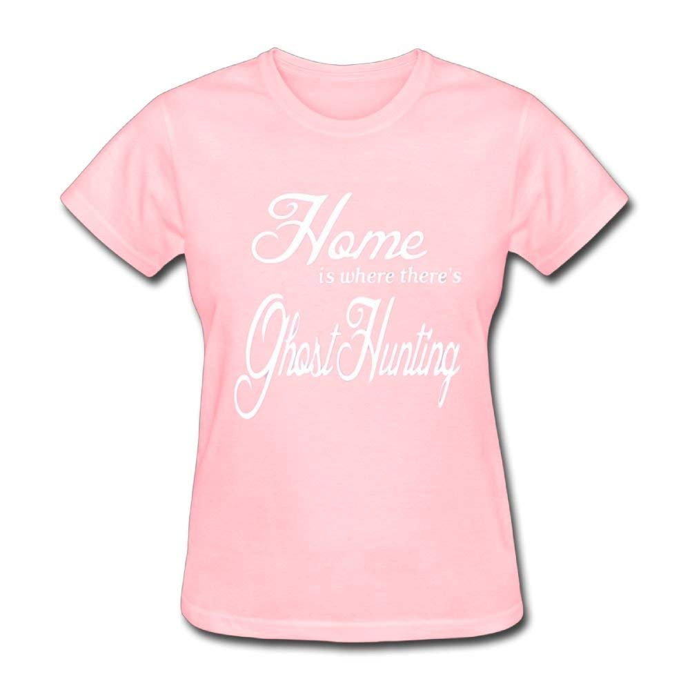 Pink Short Sleeve Home Is Where Theres Ghost Hunting Ts Shirts