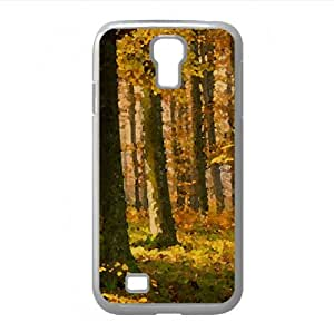 German Forest In Autumn Watercolor style Cover Samsung Galaxy S4 I9500 Case (Autumn Watercolor style Cover Samsung Galaxy S4 I9500 Case)