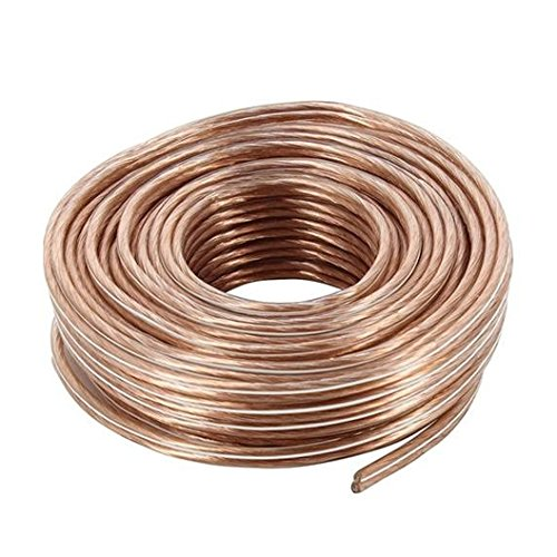 18 Gauge 25 Foot Audio Speaker Wire Speaker Cable Audio For Sound System - Gold