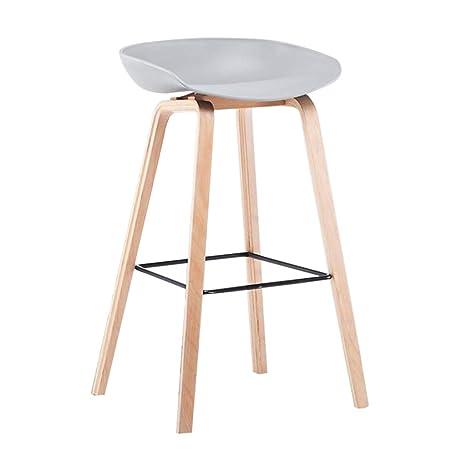 Amazon.com: Taburete de bar moderno minimalista de madera ...