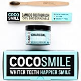 Activated Charcoal Natural Teeth Whitening Powder 90g | 50% More Premium Activated Charcoal Powder than Other Brands | With Charcoal Bamboo Toothbrush | CocoSmile | Spearmint Flavou