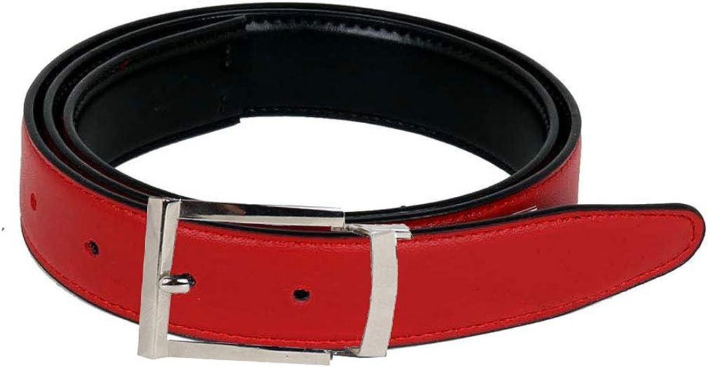 Reversible Leather Belt Crimson