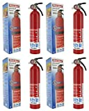 First Alert SLTYGJHJ HOME1 ABC 2.5 Pound Rechargeable Fire Extinguisher-HOME1-1-A:10-B:C-10-Year Warranty 4 Pack