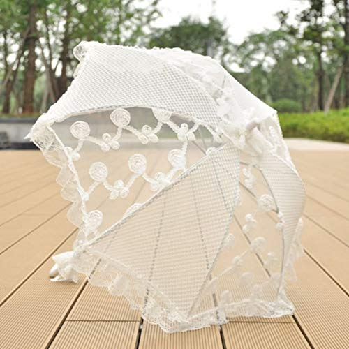 Amazon Com Beitai Pagoda Umbrella Cutout Lace Bridal