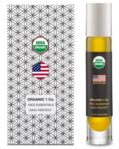 Face Essentials Daily Protect Moisturizer by ORGANIC 1 Co. Non-Greasy, Radiant Glow Facial Oil. Shields, Tones, Tightens, Brightens, Conditions, and Balances Oily Skin. USDA Certified, Gluten ()