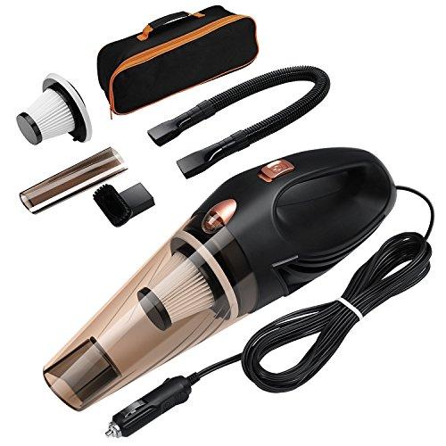 Car Vacuum Cleaner, Bermud Black 12V 106W 4 in 1 Multifunctional Cyclonic...