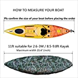 SM SunniMix Professional Kayak Canoe Cover Camouflage Waterproof UV Protection Sunblock Storage Dust Shield fit 8.5-9.8ft