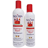 Fairy Tales Rosemary Repel Daily Kid Shampoo (12 Fl Oz) & Conditioner (8 Fl Oz) Duo for Lice Prevention, Combo Pack