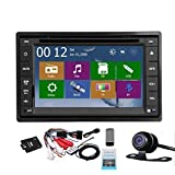 2 Din Car Autoradio Headunit In Dash Stereo 6.2-inch LCD Touch Screen DVD CD Player