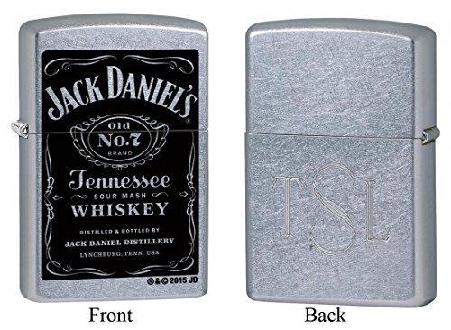 Personalized Zippo Jack Daniel's Old No. 7 Label Lighter with Free Roman Monogram ()