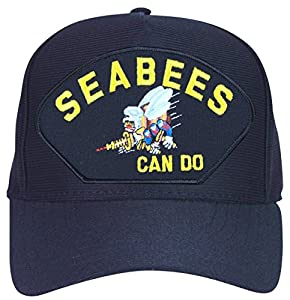 MilitaryBest 'Seabees Can Do' with Bee Logo Ball Cap by MilitaryBest
