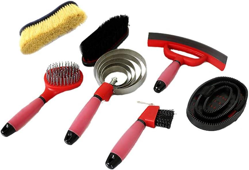 AMAIRS Kit De Limpieza De Caballos, Juego De Limpieza Estable Arnés para Caballos De Lavado Antideslizante De Silicona Kit De Cosmetología para Caballos 7pcs