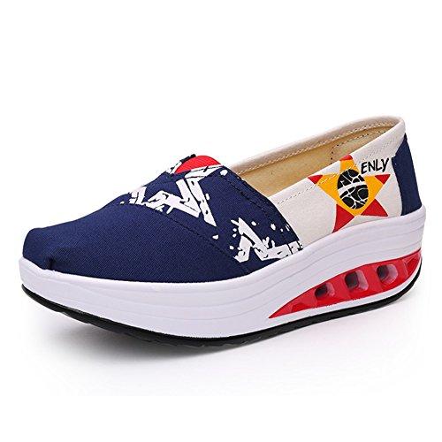 Zapatos los Casuales Plataforma Primavera la señoras Do Mujeres de Lona sacudiendo Zapatos otoño Sacudida Verano Deportivos Zapatos Zapatos Las Zapatos Casuales Escoge de tamaño 35 de Color rPw1TqrA