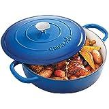 Crock Pot Artisan Enameled Cast Iron 5-Quart Braiser Pan, Sapphire Blue