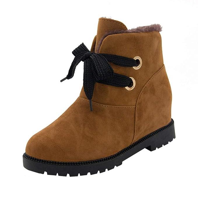 Botas de Nieve para Mujer Ante Terciopelo, Botas Martin cálidas Botas de Nieve