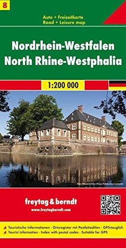 Nordrhein-Westfalen, Autokarte 1:200.000, Blatt 8, freytag & berndt Auto + Freizeitkarten