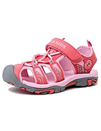 Kencey Summer Breathable Closed-toe Strap Sandals for Boys Girls (Toddler/ Little Kid/ Big Kid)