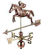 Good Directions Jumping Horse & Rider Weathervane, Pure Copper