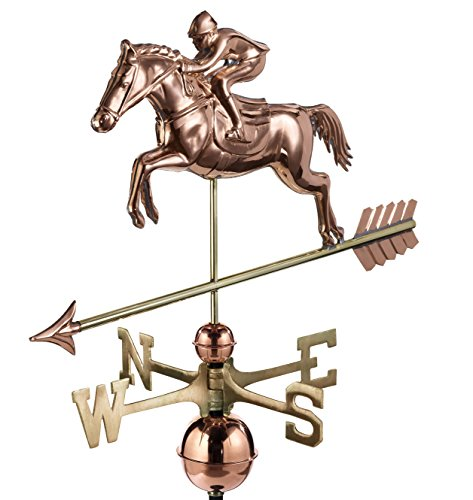 - Good Directions Jumping Horse & Rider Weathervane, Pure Copper