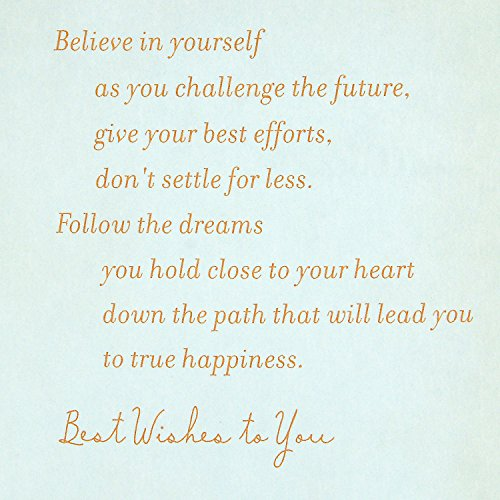 Hallmark Graduation Greeting Card (Believe in Yourself as You Challenge the Future) Photo #6