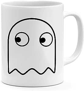 Pacman Ghost 11oz قدح القهوة ريترو لعبة بامان 11oz السيراميك الجدة القدح