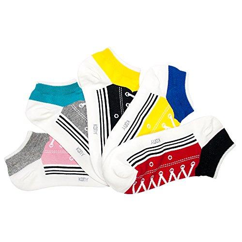 b7eda1cd3662d KONY Women s 5 Pack Lightweight Cotton (86%) Fun Novelty Low Cut Socks Cool