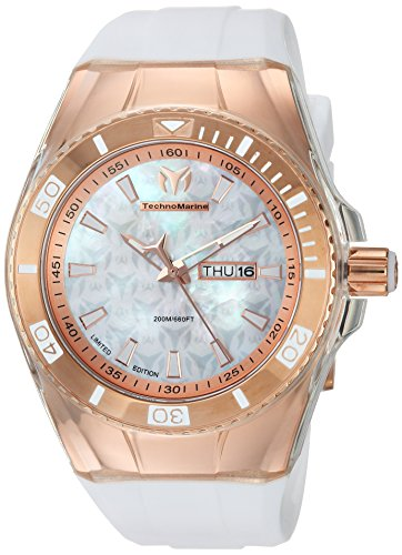 Technomarine Men's 'Cruise' Quartz Stainless Steel and Silicone Casual Watch, Color:White (Model: TM-115375)
