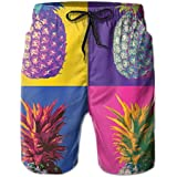 4c09c3be41 Mens Colorful Pineapple 3D Swim Trunks Quick Dry Summer Underwear Surf  Beach Shorts Elastic Waist with