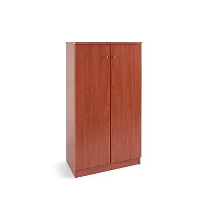 Armadio scarpiera legno nobilitato mobile 2 ante ciliegio 4 ripiani ...