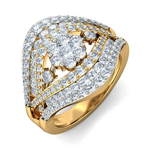 Or jaune 18K, 1.67carat Diamant Blanc (IJ | SI) en diamant
