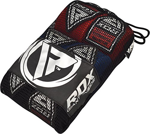 RDX Boxing Hand Wraps MMA Inner Gloves Elasticated Fist Protector 4.5 Meter Bandages Mitts Muay Thai (Pack of 3 Pairs)