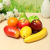 New 8PCS Lifelike Artificial Plastic Fruit Kitchen Fake Display Home Food Decor By KTOY