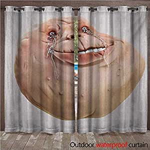 Williamsdecor Humor Outdoor Balcony Privacy Curtain Ugly Forever Alone Rage