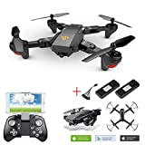 Quadcopter Drone with Camera Live Video WiFi FPV Quadcopter with 120° Wide-Angle 1080P HD Camera Drone