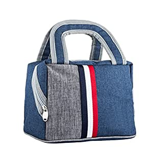 Lunch Bag Cooler Bag Lunch Tote Bag Reusable Zip Closure Handbag Back Pocket Insulated Bag Lunch Organizer Holder Container Lunch Bags Lunch Boxes Lunch Tote