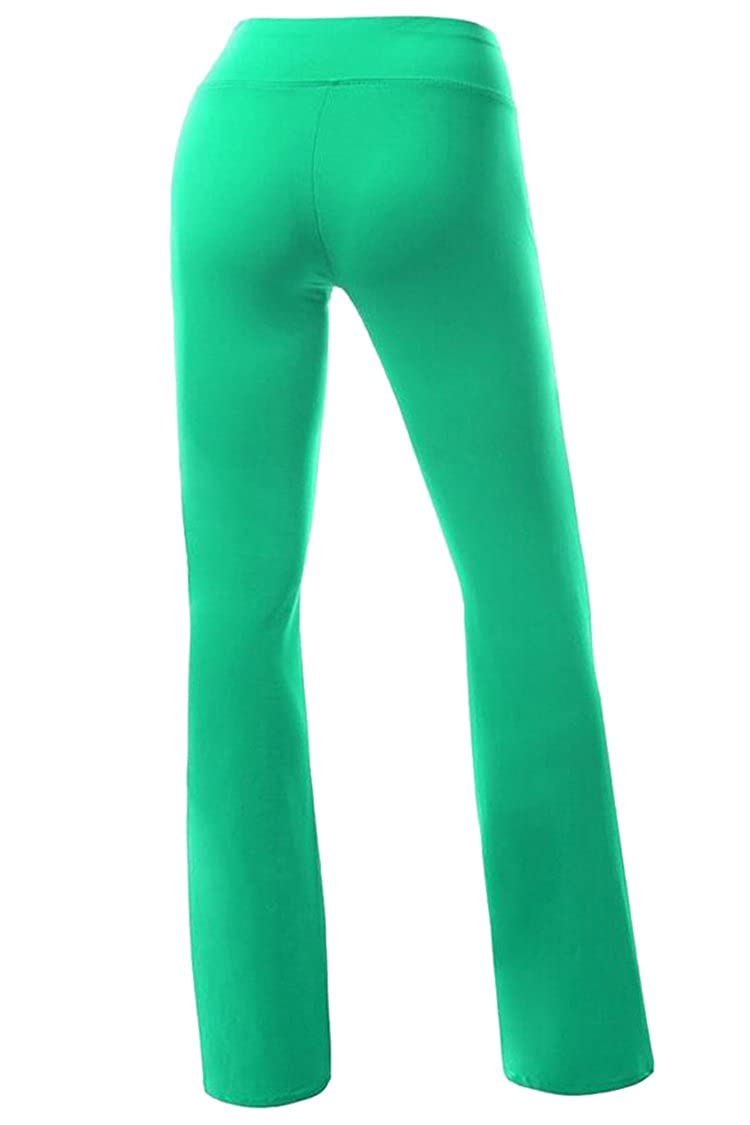 LOV ANNY Womens Solid Color Casual Workout Running Flare Yoga Pants