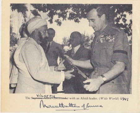 Mountbatten of Burma signed 4x6 newspaper clipping (Vintage)
