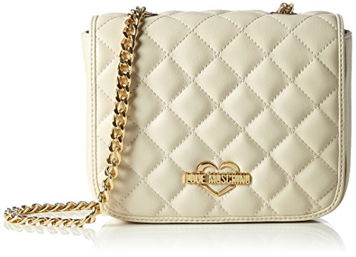 W D cm Love Pu y H 14x20x6 bolsos de Trapuntata hombro Shoppers Weiß Moschino x Borsa Avorio Mujer Ivory Nappa wqaHBCw