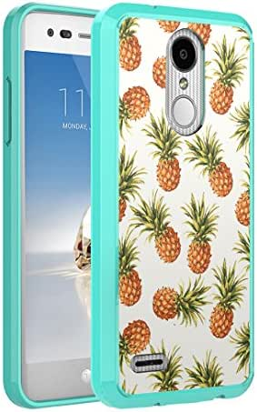 Capsule Case Compatible with LG Aristo 2 (X210), Aristo 2 Plus, Fortune 2, Rebel 3, Risio 3, Tribute Dynasty, Zone 4, K8, K8 Plus 2018 [Slim Back Shield Case Mint] - (Pineapple)